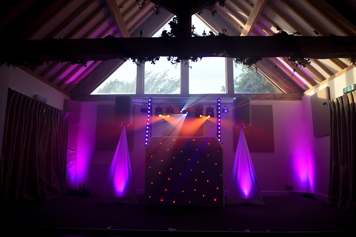Wedding DJ Lighting Set Up