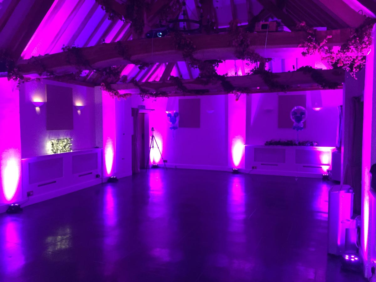 Mood lighting for discos and celebrations in Leamington ...